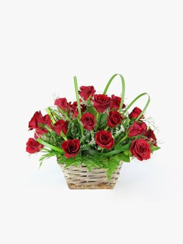 Arrangements: The Red Rose Basket