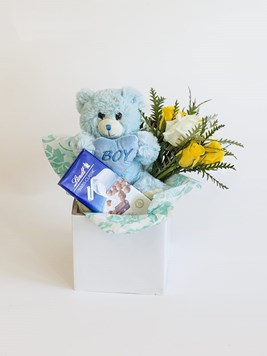 New baby flowers send a congratulations message from merci baby boy lindt box negle Gallery